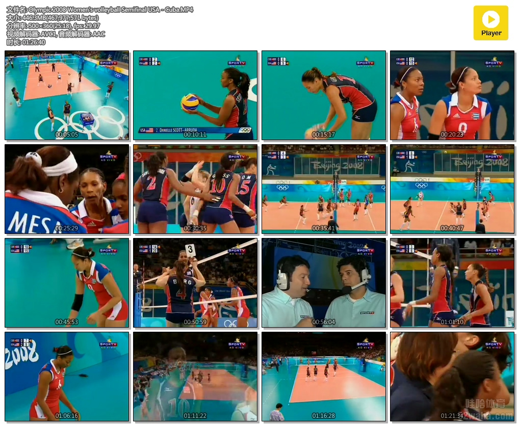 Olympic 2008 Women's volleyball Semifinal USA - Cuba.MP4.jpg